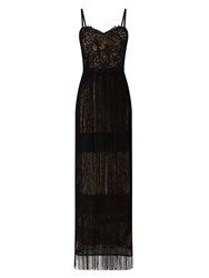 Phase Eight Hilda Fringe Full Length Dress Black