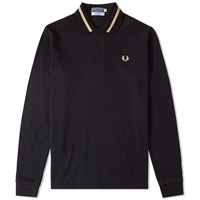 Fred Perry Reissues Long Sleeve Single Tipped Polo Black