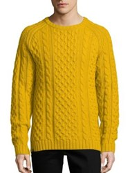 Wesc Cable Knit Wool Blend Sweater Nugget Gold