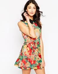 Daisy Street Floral Skater Dress Multi