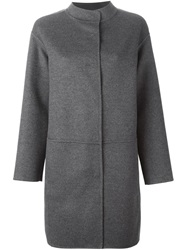 Piazza Sempione Single Breasted Coat Grey