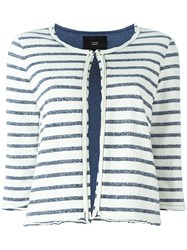 Steffen Schraut Striped Cropped Jacket Blue