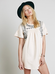 Free People New Romantics Heritage Embroidered Tunic Peach
