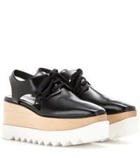 Stella Mccartney Elyse Platform Cut Out Derby Shoes Black