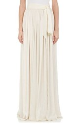 Lanvin Women's Pleated Long Bridal Skirt Nude Size 0 Us