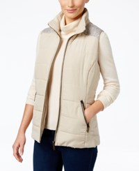 Styleandco. Style Co. Petite Mixed Media Puffer Vest Only At Macy's Pure Cashmere
