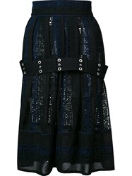 Sacai Embroidered Belted Skirt Black