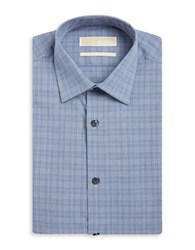 Michael Michael Kors Plaid Dress Shirt Navy