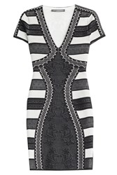 Alexander Mcqueen Mini Dress With Silk Multicolor
