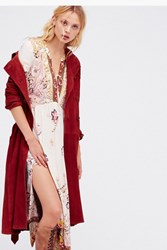 Free People Womens Suede Trench