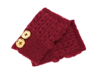 San Diego Hat Company Kng3132 Knit Button Fingerless Gloves Wine Extreme Cold Weather Gloves Burgundy