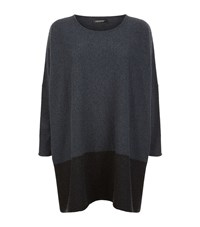 Eskandar Oversized Cashmere Knit Top Female Grey
