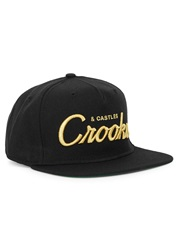 Crooks And Castles Black Logo Embroidered Twill Cap