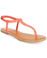 American Rag Krista T Strap Flat Sandals Only At Macy's Women's Shoes Coral