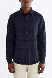 Native Youth Overdyed Jacquard Button Down Shirt Indigo