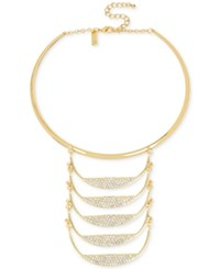 Inc International Concepts M. Haskell For Gold Tone Pave Ladder Statement Necklace Only At Macy's