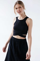 Cheap Monday Material Cross Front Tank Top Black