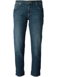 Michael Michael Kors 'Angel' Cropped Jeans Blue