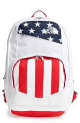The North Face 'Wise Guy' Backpack White Tnf White Tnf Red