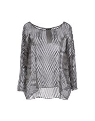 Luxury Fashion Shirts Blouses Women Grey