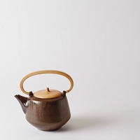 Mjolk Bizen Ware Teapot With Wooden Handle And Lid 1Spr2645