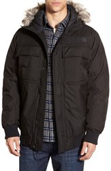 The North Face Men's 'Gotham Ii' Hooded Down Jacket With Faux Fur Trim Tnf Black