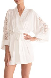 In Bloom By Jonquil Women's Short Robe Ivory