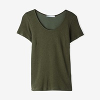 Objects Without Meaning Scoop Neck Tee Olive