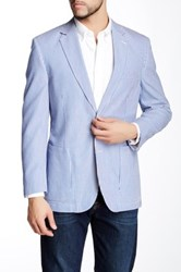 Kroon Pegasus Striped Notch Lapel Two Button Blazer Blue