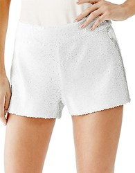 Guess Sequin Shorts White