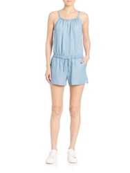 Splendid Chambray Romper Light Wash