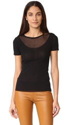Fuzzi Short Sleeve Top Nero
