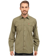 Fjall Raven Sarek Trekking Shirt Green Men's Clothing