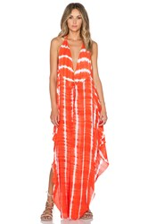 Indah Imani Halter Maxi Dress Orange