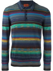 Missoni Striped Longsleeved Polo Shirt