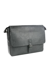 Kenneth Cole Reaction Faux Leather Fold Over Computer Bag0125 539668 Charcoal