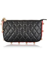 M Missoni Quilted Leather Clutch Black