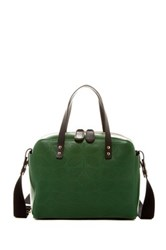 Orla Kiely Caraway Leather Satchel Green