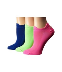 Lauren Ralph Lauren Double Tab Microfiber 3 Pack Neon Green Women's Crew Cut Socks Shoes