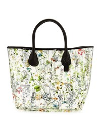 Neiman Marcus Floral Clear Tote Bag