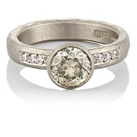 Malcolm Betts Women's Mixed Diamond Ring No Color