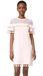 Nicholas N Tassel Dress Blush