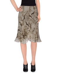 Diana Gallesi Knee Length Skirts Grey
