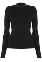 Oasis Sequin And Sparkle Turtle Neck Black