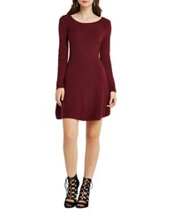 Bcbgeneration A Line Sweater Dress Berry