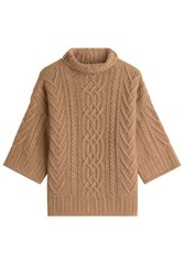 Max Mara Virgin Wool Pullover With Cashmere Camel