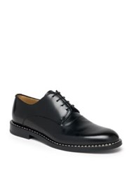 Fendi Metal Stitch Blucher Lace Ups Black