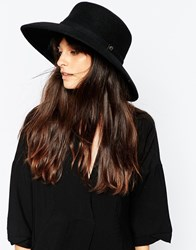 Whistles Flat Top Wide Brim Hat Black
