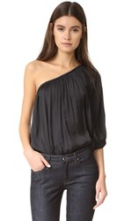 Smythe Single Shoulder Blouse Black