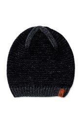 Ben Sherman Two Tone Slouch Fit Beanie Black